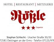 Hotel-Restaurant-Metzgerei-Rössle Hotel Logohotel logo