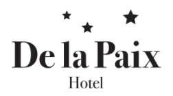 Hotel De La Paix Hotel Logohotel logo