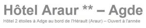 Logo de l'établissement Hôtel Araurhotel logo
