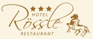 "Hotel Restaurant ""Rössle"" hotel logohotel logo"