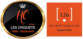 Hostellerie des Criquets hotel logohotel logo