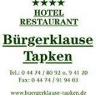 Hotel Restaurant Bürgerklause Tapken Hotel Logohotel logo
